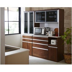 【開梱設置費込】食器棚 RNシリーズ 120cm幅 ダイニングボード キッチンボード 木目 ウォールナット 【日本製】 - 拡大画像