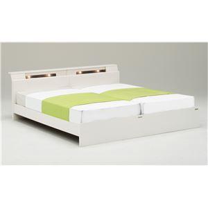 ベッドフレーム シングルベッド 【ディオラ】 (シングル×2・ホワイト・コンセント右) グランツ GLANZ