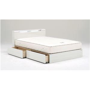 ベッドフレーム ダブルベッド 【リオーナ】 (ダブル・ホワイト・引き出しあり・Lキャビタイプ) グランツ GLANZ