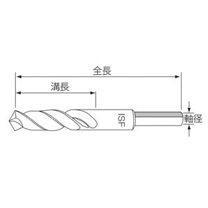 イシハシ精工 軸細正宗ドリル 22.0X1/2 (JD 13型)