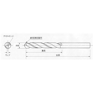 イシハシ精工 6EXD-2.8 六角軸正宗ドリル(パック) 2.8MM