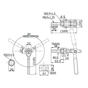 角田興業 押し引き兼用クランプ FM150