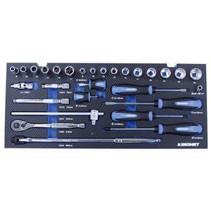 SIGNET(シグネット)800S-5218MBL/SL 9.5SQ  52点入りメカニックツールセット マットブルーXシルバー