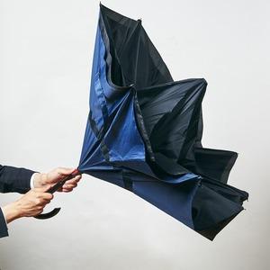 逆さに開く二重傘/アンブレラ 【ベージュ×ブラ...の紹介画像2