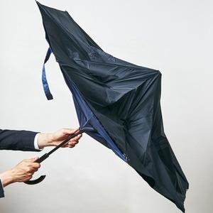 逆さに開く二重傘/アンブレラ 【ベージュ×ブラ...の紹介画像3