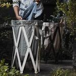 Laundry Hamper(ランドリーハンパー) グレー×ナチュラル