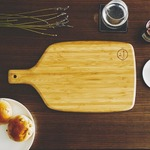 竹製カッティングボード/まな板 【幅38cm】 オイルコーティング付き 『La Cuisine ラ・クイジーヌ』