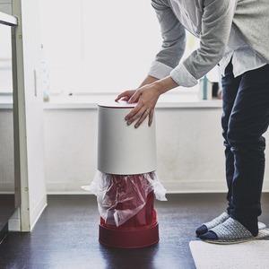 フタ付きダストボックス/円柱型ゴミ箱 【マットブラウン】 7.3L ワンプッシュタイプ 『La Cuisine ラ・クイジーヌ』