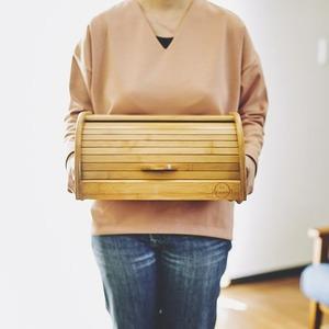 竹製ブレッドケース(パンケース/スパイスラック) 幅34cm×奥行26cm×高さ17cm 『La Cuisine ラ・クイジーヌ』