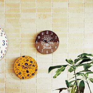 モチーフクロック/壁掛け時計 【Lサイズ/COFFEE BEANS&BAG - コーヒー ビーンズ アンド バッグ - 】 直径33cm
