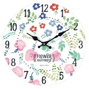 モチーフクロック/壁掛け時計 【Lサイズ/BLOOMING-white- ブルーミング ホワイト】 直径33cm