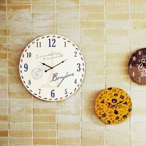 モチーフクロック townシリーズ/壁掛け時計 【LLサイズ/パリ】 直径60cm