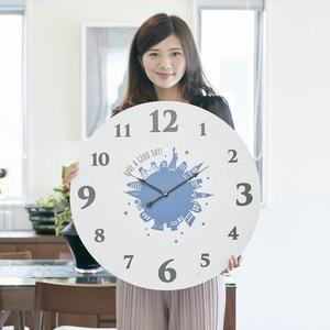 モチーフクロック townシリーズ/壁掛け時計 【LLサイズ/ニューヨーク】 直径60cm