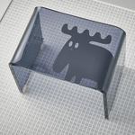 un bain × moz アクリル製バスチェア ブラック