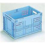折りたたみメッシュコンテナ/オリコン 【50L/ブルー】 CB-M50W 岐阜プラスチック工業