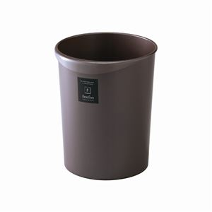 【40セット】 スタイリッシュ ダストボックス/ゴミ箱 【丸型 8L PC パールショコラ】 材質:PP 『Nフレクション』