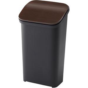 シンプル ダストボックス/ゴミ箱 【ウッド 19L】 プッシュ 『スムース』