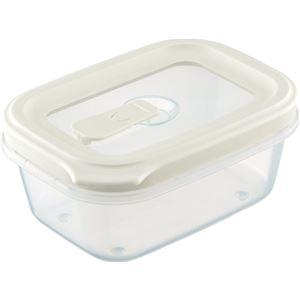 【80セット】 フードコンテナ/保存容器 【シールS ホワイト】 容量:約430ml 電子レンジ・食洗機対応可 『リベラリスタ』