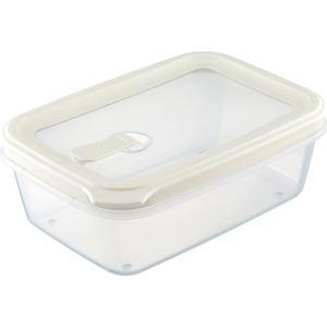 フードコンテナ/保存容器 【シールL ホワイト】 容量:約1050ml 電子レンジ・食洗機対応可 『リベラリスタ』