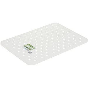 【50セット】 シンクマット/キッチン用品 【パールホワイト】 32.5 × 45cm 材質:EVA 『HOME&HOME』