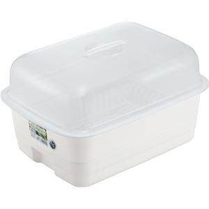 【12セット】 フード付き 水切りかごセット/キッチン用品 【Lサイズ】 パールホワイト 『HOME&HOME』