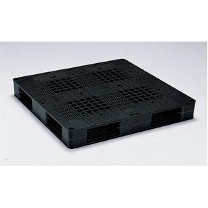 岐阜プラスチック工業 プラスチックパレット J-R4・1111C 両面仕様ブラック 1100×1100mm