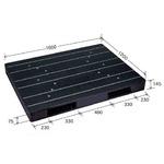 大型プラスチックパレット/物流資材 【1200×1600mm 両面使用/ブラック】 JCK-R2・120160 岐阜プラスチック工業の画像