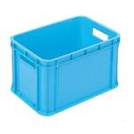 【6個セット】 RBコンテナー/コンテナボックス 【持ち手あり 46L ブルー】 RB-M47 岐阜プラスチック工業