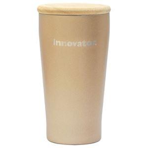 イノベーター ステンレス 真空二重 タンブラー&木蓋 シャンパン ゴールド 450ml 保温 保冷【540-303】