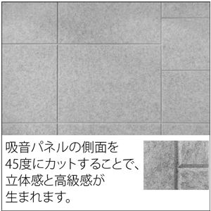 【単品】 吸音パネル/防音フェルトボード 【80×60cm/ライトアプリコット】 45度カット 簡単取り付け