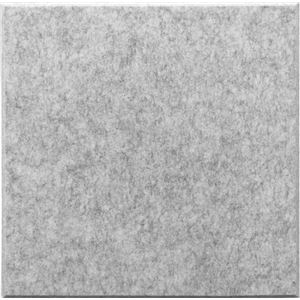 【単品】 吸音パネル/防音フェルトボード 【40×40cm/グレー】 45度カット 簡単取り付け - 拡大画像