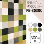 防音フェルトボード  吸音パネル45C (30×30cm) 同色2枚組 ブラック