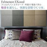 【単品】吸音パネル/防音フェルトボード 【40×40cm /グレー】布貼りタイプ/45度カット Felmenon EXceed