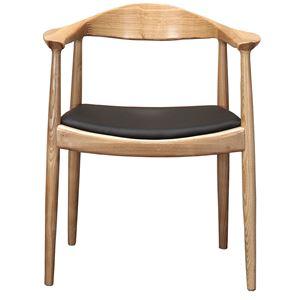 【リプロダクト品】 The Chair/デザイナーズチェア 【ナチュラル】 肘付き
