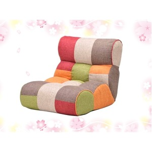 ソファーのような快適座椅子/リクライニングチェア 【MULTI】 41段リクライニング ポケットコイル64ヶ入り 『ピグレットJr』