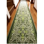 グレースオーナメント廊下敷 抗菌防臭 65×180cm グリーン 日本製 マット