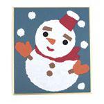 (業務用10セット) 藤久 和紙でつくるちぎり絵ミニ 冬 雪だるま