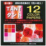 (業務用20セット) トーヨー タント12 カラーペーパー15 68001 赤