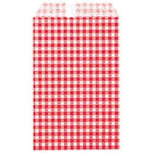 【訳あり・在庫処分】 (業務用20セット) シモジマ 柄小袋ギンガムミニ赤 R-100 200枚6521605