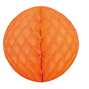 【訳あり・在庫処分】 (業務用20セット) hanaoka ハニカムボール30cm オレンジ