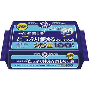 日本製紙クレシアアクティトイレに流せるおしりふき100枚24P