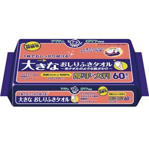 日本製紙クレシアアクティ大きなおしりふきタオル60枚12P