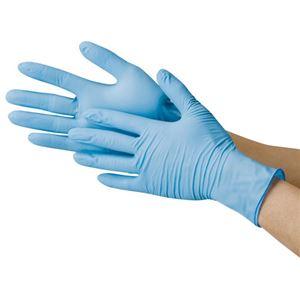 川西工業 ニトリル極薄手袋 粉なし ブルーM