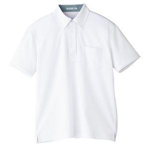 Natural Smile メンズポロシャツ FB5023M ホワイト LL