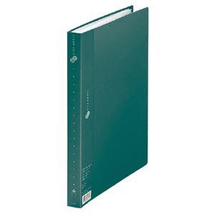 プラス クリアーファイル40P FC-124EL A4S 緑 10冊