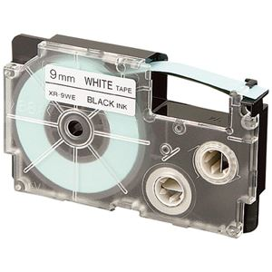 カシオ計算機 テープ 白に黒文字 XR-9WE 9mm 10本