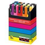三菱鉛筆 ポスカ PC5M15C 中字 15色セット 5組