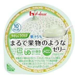 (まとめ)ハウス食品まるで果物のようなゼリーメロン(48入)【×3セット】