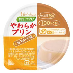 (まとめ)ハウス食品やわらかプリンカスタード味(48入)【×3セット】