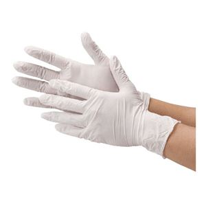 (まとめ) 川西工業 ニトリル使い切り手袋 #2060 ホワイトM【×5セット】